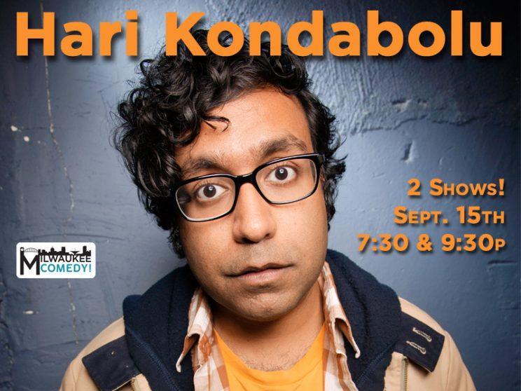 Hari Kondabolu in Milwaukee - 2 Shows! @ The Underground Collaborative | Milwaukee | Wisconsin | United States
