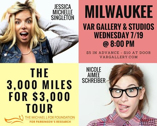 Milwaukee Comedy Presents: Jessica Michelle Singleton & Nicole Aimée Schreiber LIVE @ Var Gallery & Studio | Milwaukee | Wisconsin | United States