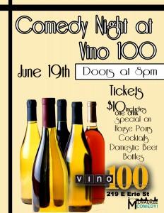 Comedy Night at Vino 100 @ Vino 100   Milwaukee   Wisconsin   United States