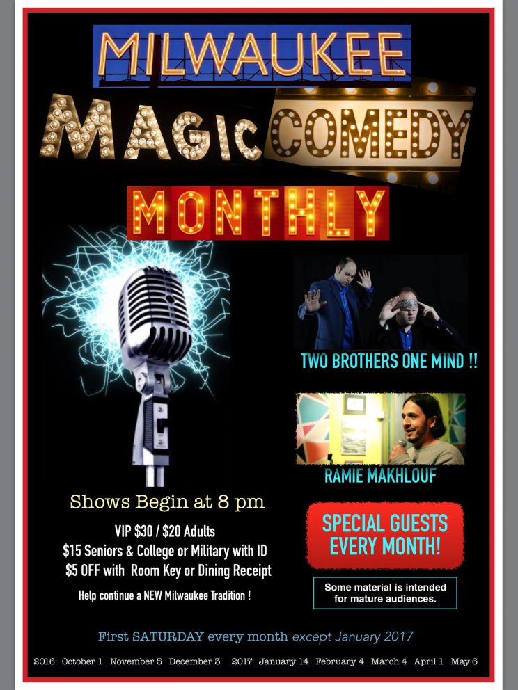 Milwaukee Magic & Comedy Monthly @ Best Western Plus (Milwaukee Airport) | Milwaukee | Wisconsin | United States