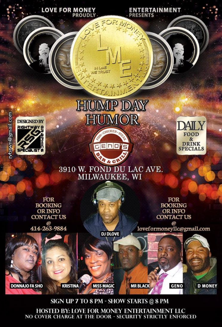 LME Wednesday Open Mic Comedy @ The Empire Night Club | Milwaukee | Wisconsin | United States
