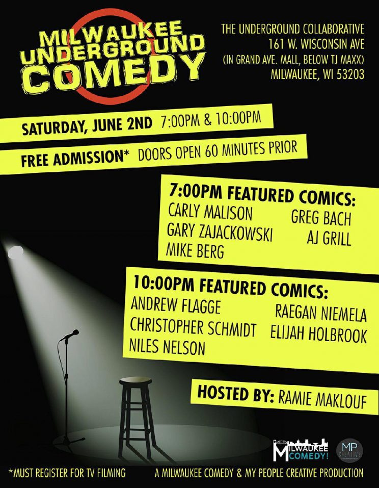 Milwaukee Underground Comedy - TV Taping!