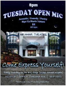 Tuesday Open Mic @ Miramar Theatre | Milwaukee | Wisconsin | United States