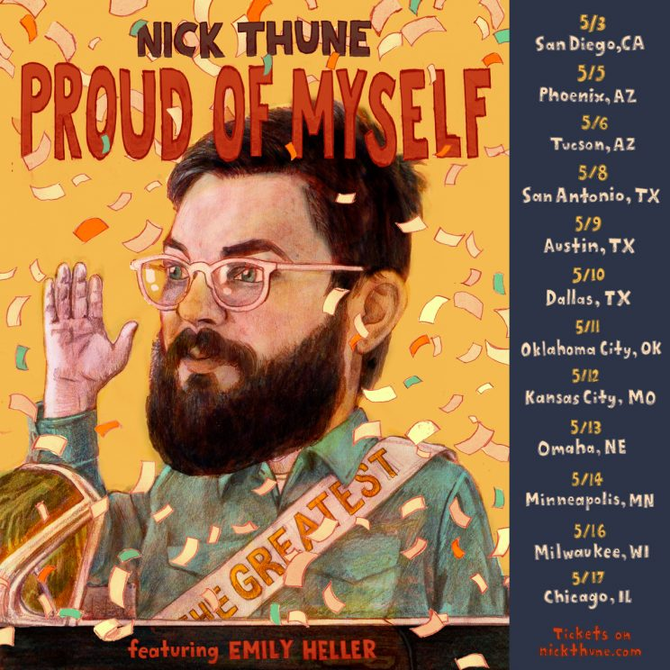 Nick Thune – Proud of Myself Tour @ The Underground Collaborative | Milwaukee | Wisconsin | United States