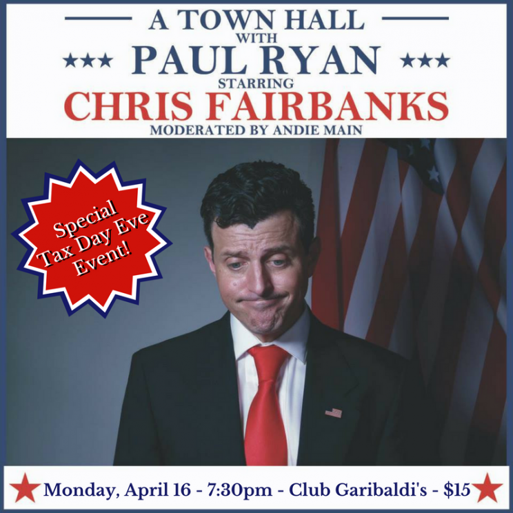 A Town Hall with Paul Ryan Starring Chris Fairbanks @ Club Garibaldi  | Milwaukee | Wisconsin | United States